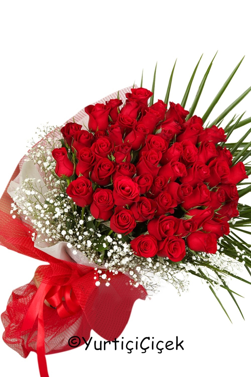 Red Roses: 51 Pieces