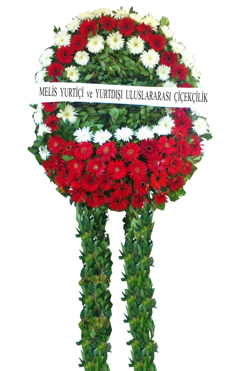 Funeral flowers stanbul turkey funeral florists funeral red and white flower wreath from the sad days of being with loved ones to share dhlflorist Image collections